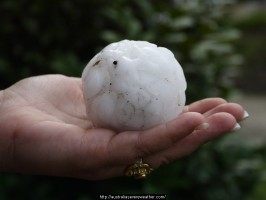 Hail damage caused by western Sydney supercell 1