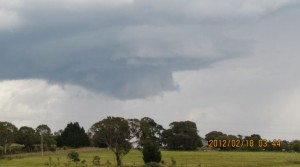 Interesting storm structure at Capertee 18 February 2012