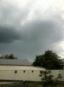 Funnel cloud possible tornado near Mudgee 1st April 2012