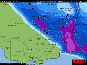 storms_east_nsw_GFS_surface_lifted_index_22nd_march_2013
