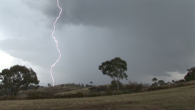 Spectacular lightning display Mt Panorama (Bathurst) 21 January 2012 1