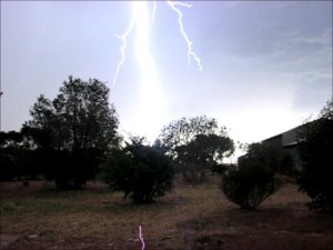 Lightning in North Central South Australia 5th November 2012