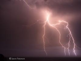 Incredible Lightning display Northern Rivers 9th January 2013