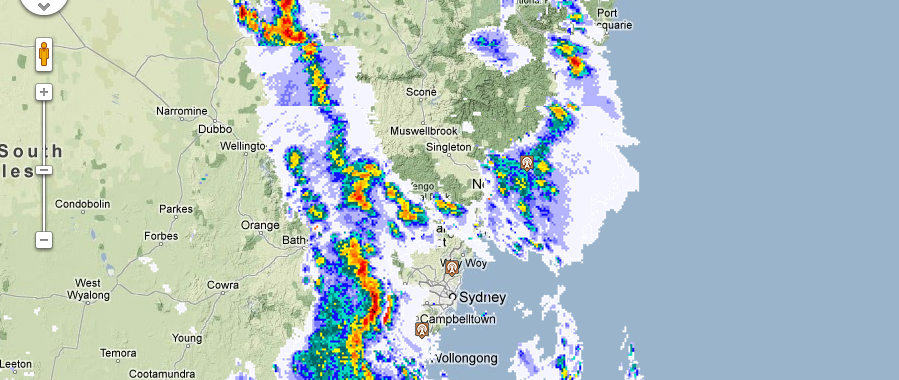 Severe storm warnings for Sydney and eastern NSW 1st February 2013