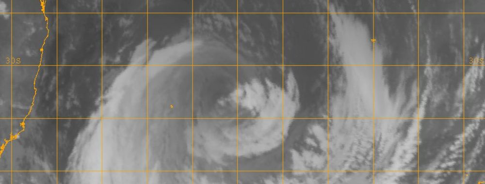 Tropical Cyclone Sandra warning for Lord Howe Island 2