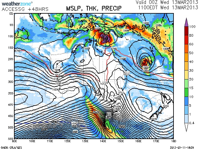 Another Tropical Low Forming 11th March 2013