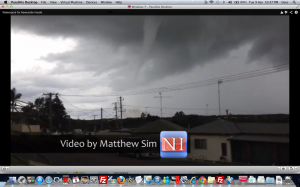 Waterspouts spotted off the Central Coast 9th April 2013