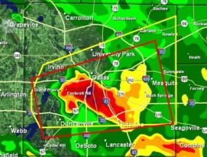 Cleburne tornado radar