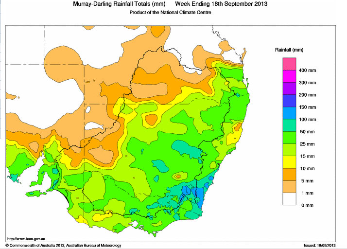 Rain Event and Storms NSW 16th to 17th September 2013
