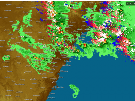Storms widespread across eastern NSW 29th October 2013