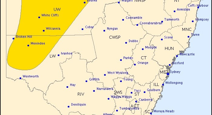 NSW Severe Thunderstorm Warning