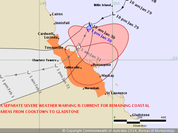 Tropical Cyclone Dylan named as a category 1 tropical cyclone