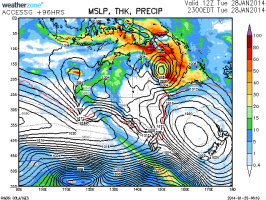 Tropical Low for far north Queensland late January 2014