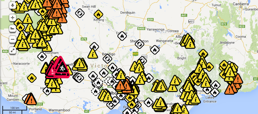 Victorian Bushfires Houses Lost and at least one person killed 17th January 2014 2