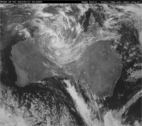 Satellite Image Tropical Low 17th January 2014