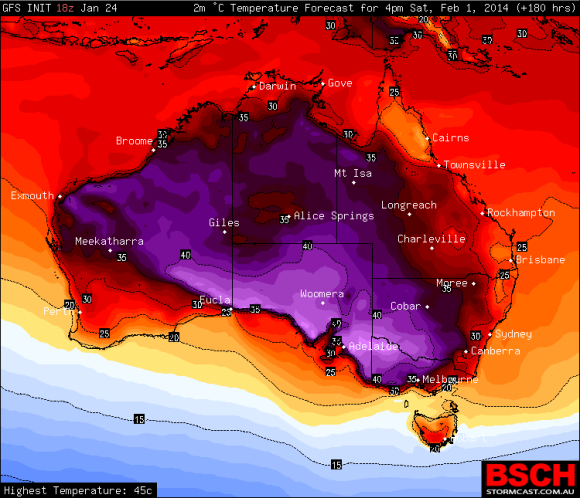 Heat across the Interior 1st February 2014