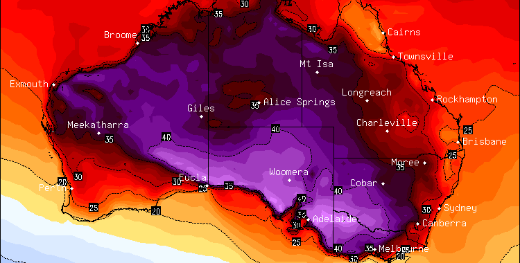 Hot Conditions may return next week Central and Southern Australia