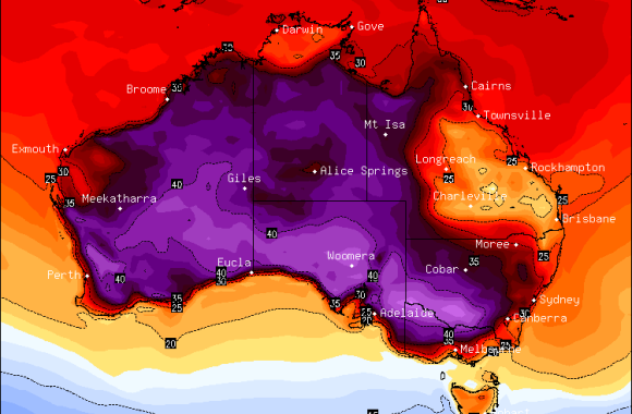 Heat Wave and ex-Tropical Cyclone Dylan January 31st 2014