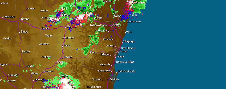 Lighting Storms northeast NSW 20th January 2014