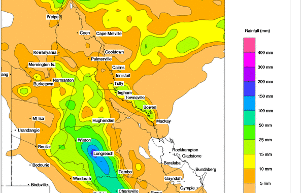 Hope for Drought Break Rains Queensland 17th February 2014