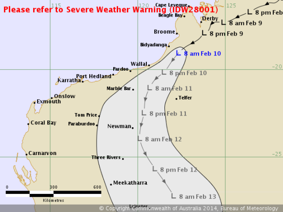 Tropical Low north Western Australia 10th February 2014