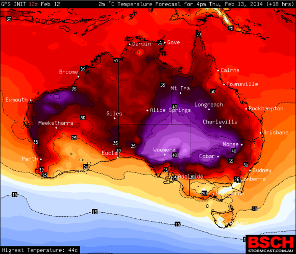 Heat Wave Central Australia 13th February 2014