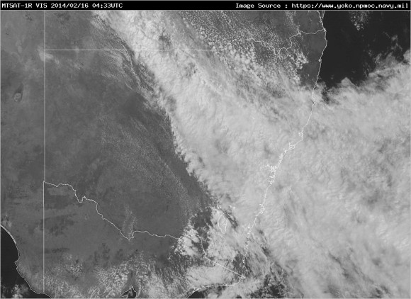 Latest Satellite Visible Image nsw vis latest 16th_February 2014 3pm