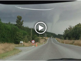 Supercell and Tornado hits Canterbury New Zealand