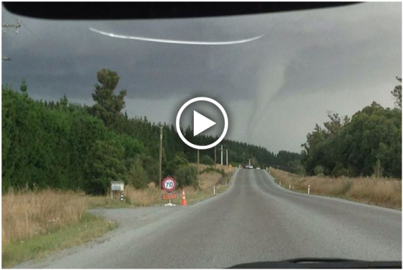 Tornado Canterbury New Zealand 23rd February 2014