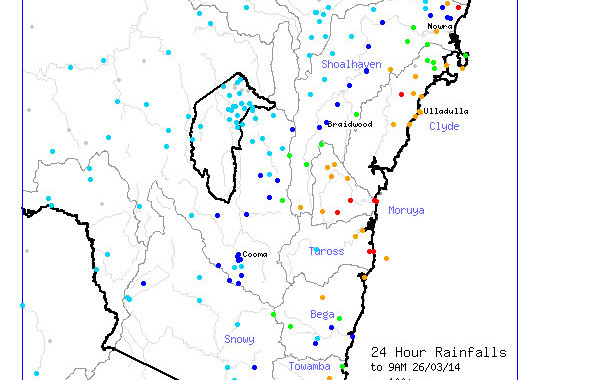 Rainfall Event Eastern Australia late March 2014 2