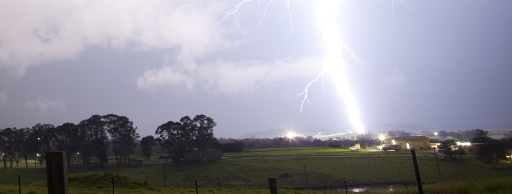 Lightning near Appin, NSW 3rd April 2014 5
