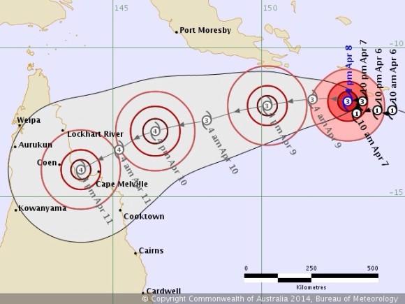 Tropical Cyclone Ita 8th April 2014