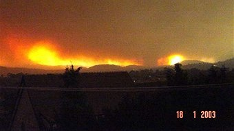 Canberra Bushfires Tornado 18th January 2003 2