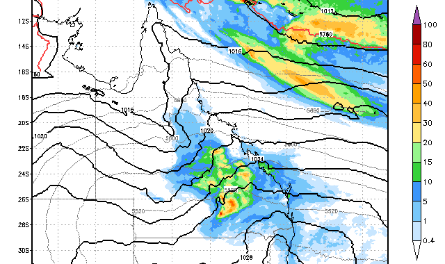 Rain and Storms for Central Queensland 21st to 22nd September 2014 2
