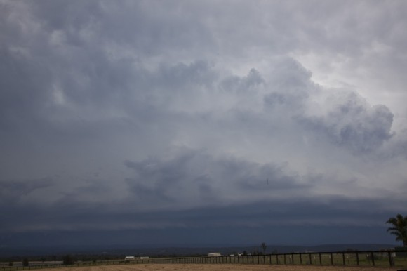 Squall line approaches