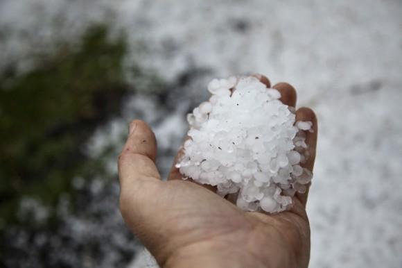 hailstones in hand