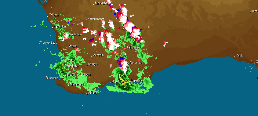 radar-and-lightning-severe-storms-19th-october-2014