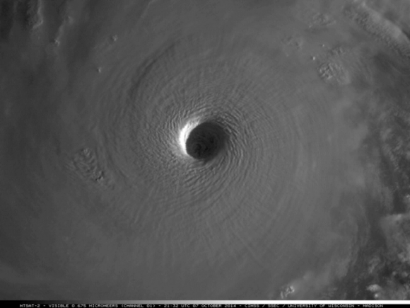 Satellite Image Super Typhoon Vongfong