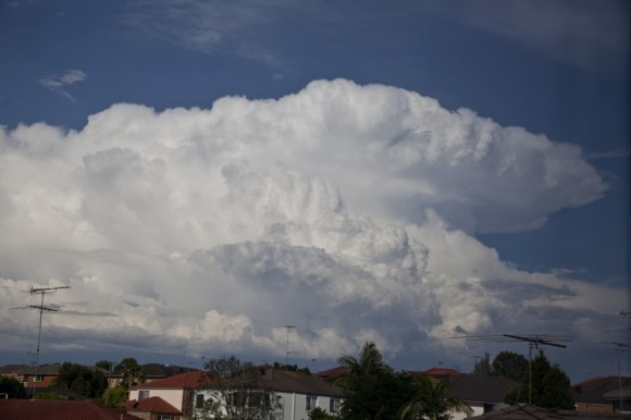 Storm explodes over Northern Suburbs of Sydney