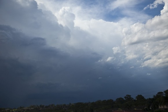 Last cells of the day approaches from the northwest