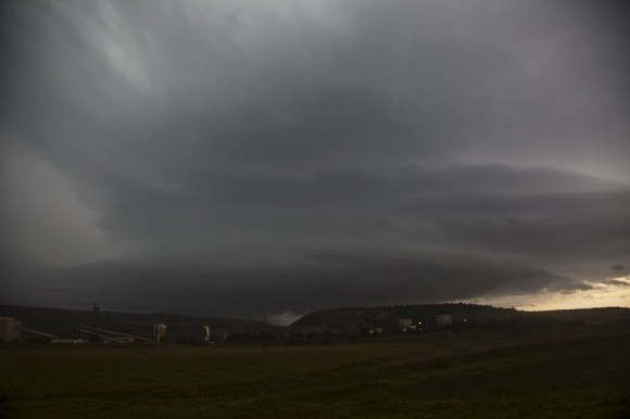 Supercell about 40 minutes after dropping the giant hailstones