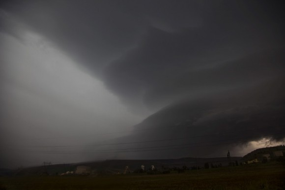 More inflow can be seen into the supercell