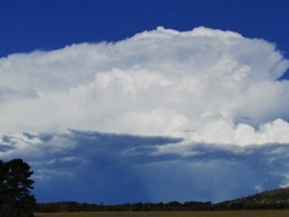 Storm chase 29 December 2014 concludes with spectacular anvil cloud 5