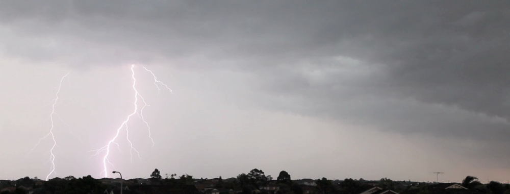 Sydney Shelf Cloud and Lightning Christmas Day 2014 5