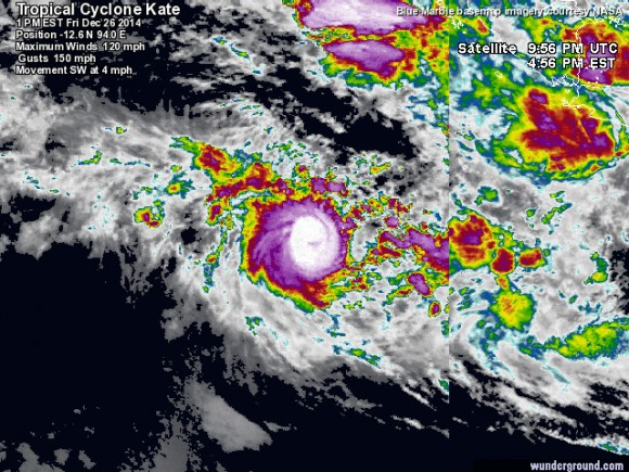 Tropical Cyclone Kate Satellite image