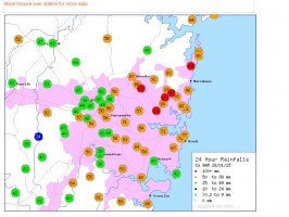 Eastern NSW - Four days of weather extremes 25 to 28 January 2015 4