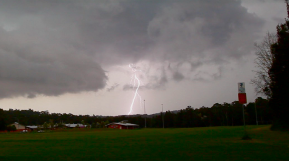 Staccato Lightning Batemans Bay Lightning 9th January 2015