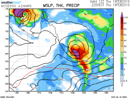 Tropical cyclone Lam Marcia 19th February 2015