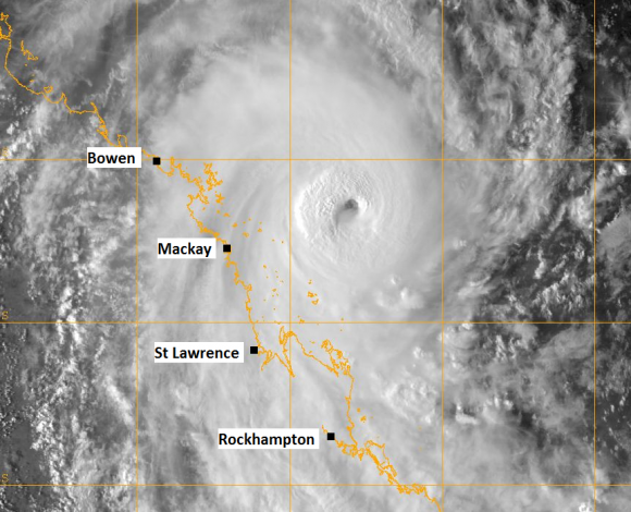 Tropical Cyclone Marcia Satellite Image