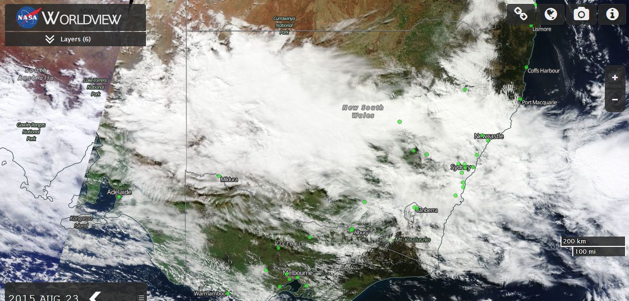 Rain and storm event Eastern Australia 23 to 27 August 2015